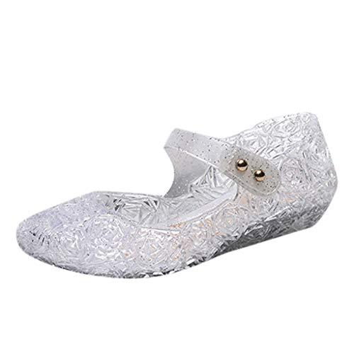 Cuteelf Mädchen Prinzessin Sandalen mit Absatz Kinder Schuhe Partei Glitzer Kristall Mädchen Kostüm Zubehör Karneval Verkleidung Party Aufführung Fasching Tanzball
