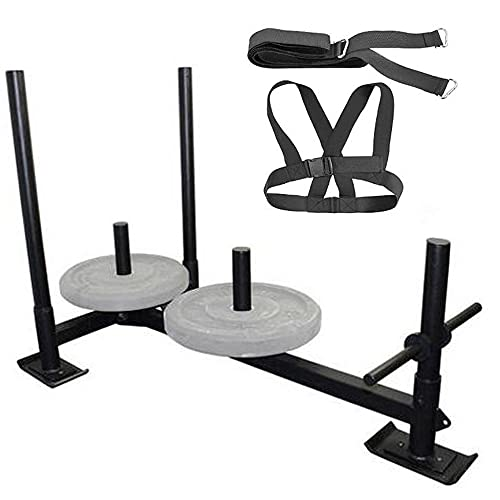 zvzvo Fitness Sled Weighted Push Sled Speed Training Sled 1PCS Black,Fitness Sled Black Training Sled 21 inch Speed Training sled Movement and Speed Improvement