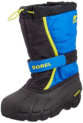 Sorel Children's Flurry Boot - Waterproof - Black, Super Blue - Size 13