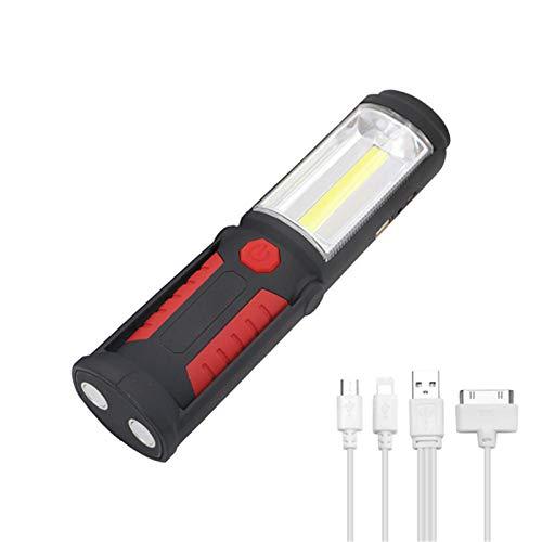 QMMB Luz De Trabajo LED Portátil, Magnética con Gancho, Luz De Verificación,...