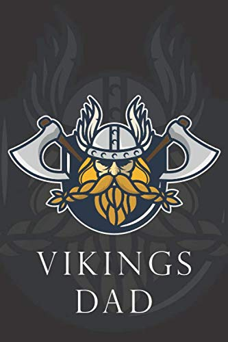 Vikings Dad Line Notebook: Fathers Day Gift for Vikings Dad, or In any Special Holidays