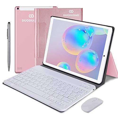 4G Tablette Tactile 10 Pouces, 2 in1 Tabletts avec Clavier Android 9.0 4 Go de RAM et 64 Go ROM, Quad-Core 8000mAh 5.0 MP 8.0 MP HD Camera,Doule SIM, WiFi, Bluetooth, GPS, OTG,Type-c
