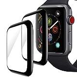 CELLBEE 2 Stück Panzerglas Folie Kompatibel mit Apple Watch Series 4/5, The Unbrekable Bildschirmschutzfolie 3D Curved Vollabdeckend (40mm)