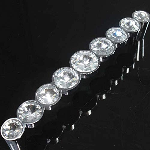 128mm Modern Fashion Glass Our shop most popular Diamond K9 D Handle Be super welcome Crystal Furniture