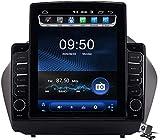 Android 9.1 GPS del Coche Navegación Multimedia Radio Pantalla de 9.7 Pulgadas Vertical para Hyundai Tucson IX35 2010-2015, Dirección de la Ayuda FM DSP RDS/DVD/Bluetooth Control de la Rueda
