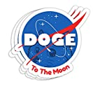 Doge Space to The Moon Dogecoin Gift Decorations - 4x3 Vinyl Stickers, Laptop Decal, Water Bottle Sticker (Set of 3)