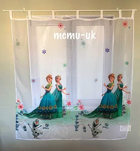 Polontex Disney Gardinen Die Eiskönigin Frozen DA05-150 cm Breite x 150 cm Lange Kinderzimmer Vorhang