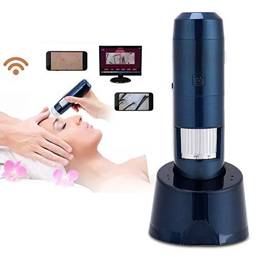 5-200X Wireless Wifi + USB Haut Digital Mikroskop, Haar Kopfhaut Detektor Analysator 200MP Kamera HD Pixel Lupe(110-220V)