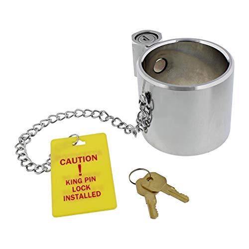 BISupply Semi Trailer King Pin Lock - Anti Theft 5th Wheel Hitch Locking Pin Kingpin Hitch Lock for RVs or Trailers