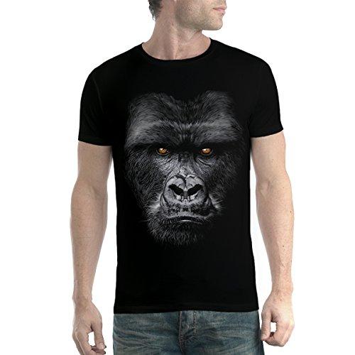avocadoWEAR Cara de Gorila Mono Hombre Camiseta Negro 2XL