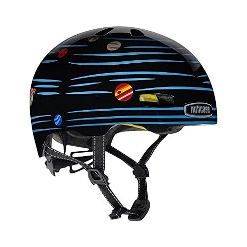 Nutcase Jugendliche, Unisex Little Nutty-Defy Gravity (Reflective) Helm, Mehrfarbig, S