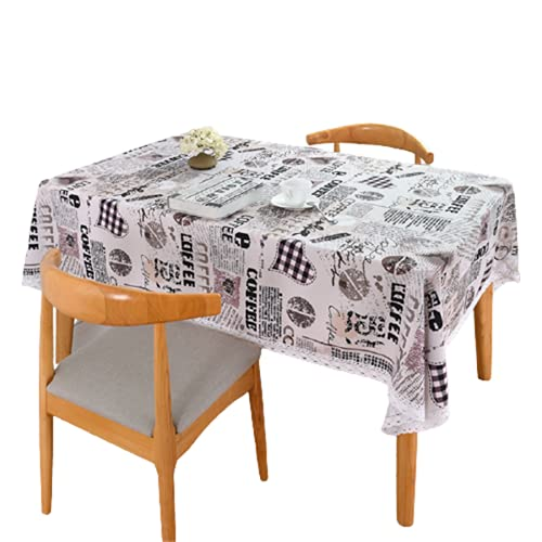 Mantel Impermeable De Poliéster Estilo Retro Mantel Rectangular para Mesa De Centro Comedor Mantel Cuadrado Adecuado para Cocina Decoración De Sala De Estar Jardín Al Aire Libre 140x220cm