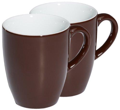 Kahla 57C136A72605C Kaffeebecher-Set 2-teilig Pronto, Schokobraun