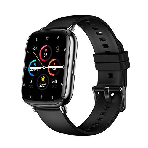 QKA Smart Watch, Nueva Pantalla Táctil Completa 1.69 Pulgadas para Hombres, Podómetro, Ritmo Cardíaco Impermeable, Rastreador De Fitness, Sportswatch para Android iOS,B