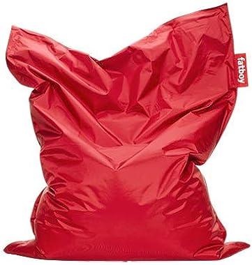 Fatboy® The Original Pouf Poire Bean Bag/Coussin/Fauteuil/canapé d'intérieur XXL | Rouge | 180 x 140 cm