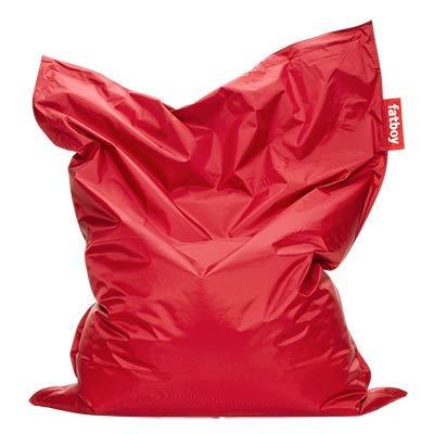 Fatboy® Original Sitzsack Red | Klassische Indoor Beanbag, Sitzkissen in Rot | 180 x 140 cm