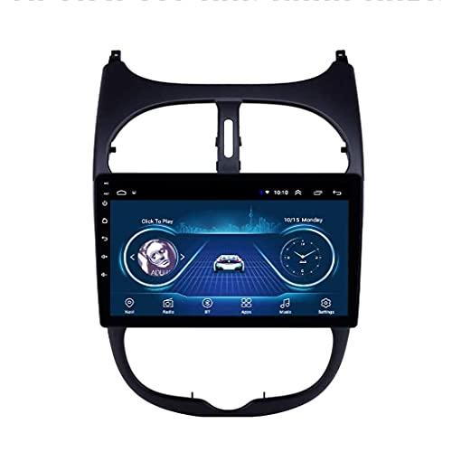 ZHANGYY Sat 9 Pulgadas Android Car Stereo Audio Navegador satelital Radio FM Navegación GPS - Aplicable Compatible con Peugeot 206 2000-2016, Head Unit Multimedia Auto Player