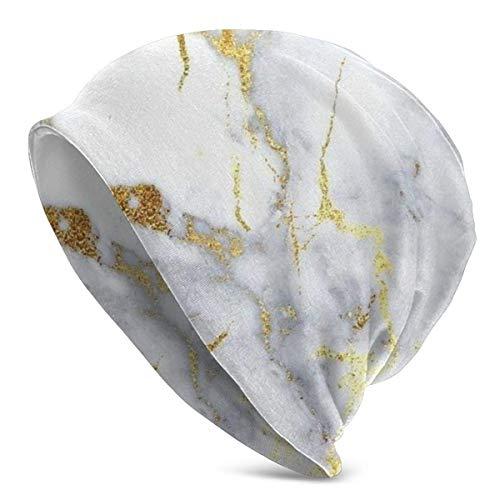 NA Unisex Beanie Caps Italiaans Goud Marmeren Knit Hoed Schedel Cap Winter Zomer Warm Womens Heren Hoeden