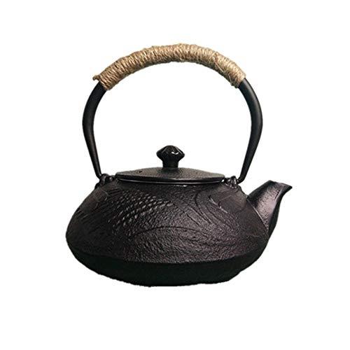 Tetera, 550ml Tetera de hierro fundido Caldera, juego de té sin la capa de época de estilo japonés, antioxidante Mejorar la calidad del agua for el té Exquisito arte de la tetera - Primera opc