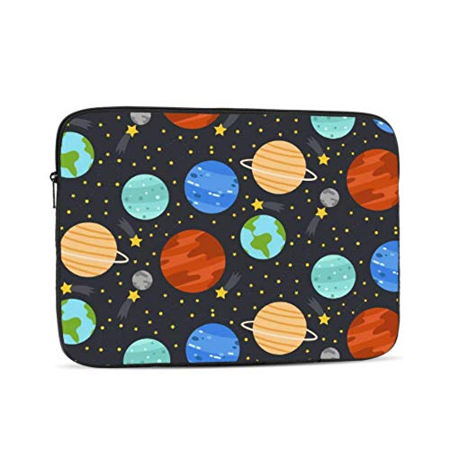 Laptop Protective Case Cartoon Space Shiny Solar System Planet Mac Laptop Cover Multi-Color & Size Choices10/12/13/15/17 Inch Computer Tablet Briefcase Carrying Bag