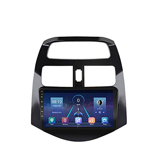 Android 9.0 Double DIN Head Unit Car Stereo Für Chevrolet Spark Beat M300 2010-2014 GPS Navigation Touchscreen Multimedia Player Radio Receiver Carplay DSP RDS(Size:Vier Kern,Color:WiFi:1+16G)