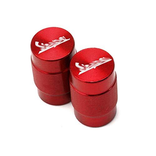 JINBINB Rueda de Motocicleta Válvula de neumático Tapas de vástago CNC Cubiertas herméticas/Ajuste para Piaggio Vespa GTS GTV LX 60 125 250 300 Primavera Sprint (Color : Red)
