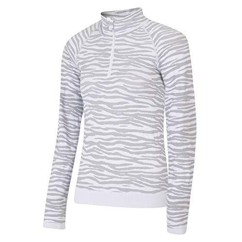 Dare 2b Ensemble premières Couches Techniques Femme TEMPLATED conçues en Maille Jacquard et sans Coutures Base Layer, White, FR : L (Taille Fabricant : L/XL)