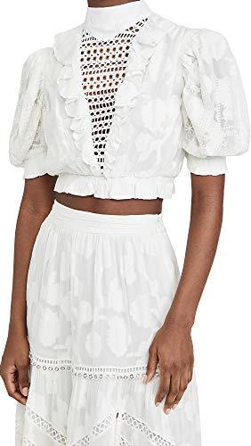 Hemant and Nandita Women's Crop Top, Off White, Large