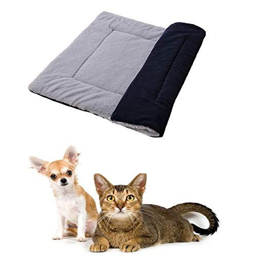 Csheng Dog-Covered Big Dogs Dog Blanket Fleece Hundedecken Waschbar Hundedecken FüR Hunde Hundedecke Waschbar Hundematte Hundematratze Blue,M