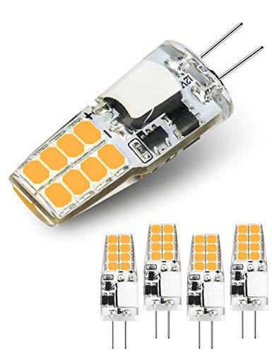 Preisvergleich Produktbild G4 LED Lampen,  AC / DC12V (20W Halogenlampenäquivalent),  220LM,  16 LEDs,  warmweiß 3000K,  nicht dimmbare G4 Lampen für die Beleuchtung zu Hause,  5er Pack