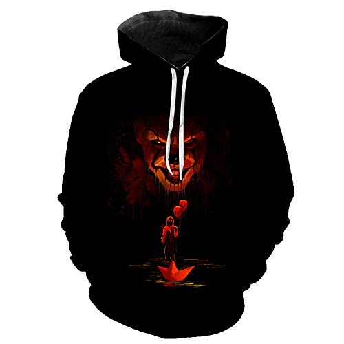 wangguifu 2020 New Chapter Two Hoodie Herren Damen Kinder Sweatshirt Horror Clown 3D-Druck Hoodie Casual Hooded Street Kleidung Coole Kleidung-E_3XL
