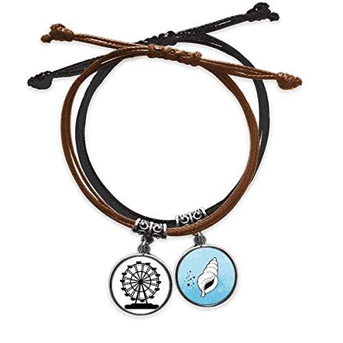 DIYthinker Laufstall, groß, schwarz, Silhouette, Armband, Kordel, Kette, Armband, Leder, konisch