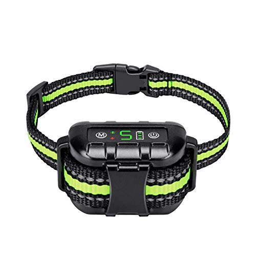 Flittor Bark Collar, No Bark Collar Rechargeable with Beep, Anti bark Collar with Adjustable Sensitivity and Intensity Beep Vibration No Harm Shock for Small Medium Large Dogs
