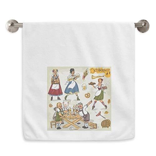 DIYthinker Duitsland Ontbijt Douane Cultuur Cirkel Wit Handdoeken Zachte handdoek Wasdoek 13X29 Inch