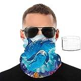 best& Casual Face Ma-sk Dolphin Underwater Party Cover Diadema Bandana Headwear...