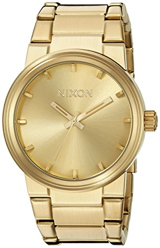 Nixon Cannon A160. 100m Water Resistant Men's Watch (39.5 mm Gold Watch Face/ 26-23 mm Gold Stainless Steel Band)