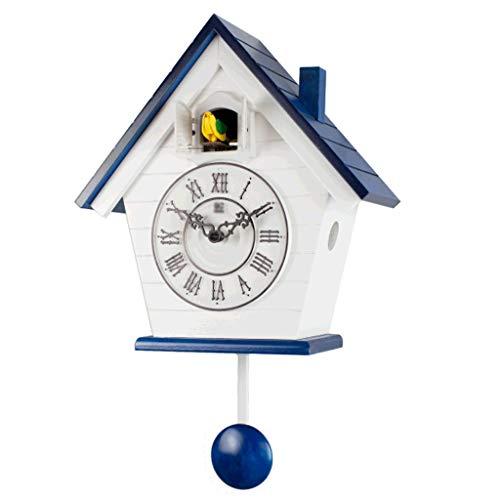 Reloj Colgante Silencioso Decorativo Moderno Sala De Estar Reloj De Pared De Cuco Pastoral Reloj De Cuco Montado En La Pared Reloj De Pájaro Columpio para Dormitorio Infantil