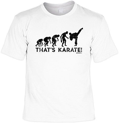 Karate - lustiges Sprüche T-Shirt Karate : That´s Karate! - Sportshirt Karate Ausrüstung Zubehör Gr: XXL
