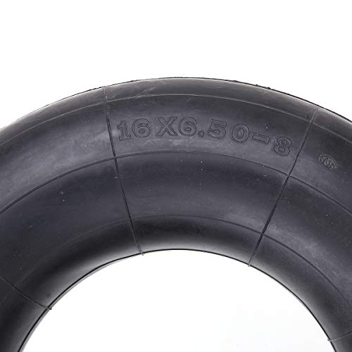Set of 2 16x6.50-8 Inner Tube with TR13 Straight Valve Stem Replacement for Lawn Mower Snow Blower ATV Farm Tractor Wheelbarrow Trailer Implement Golf Cart