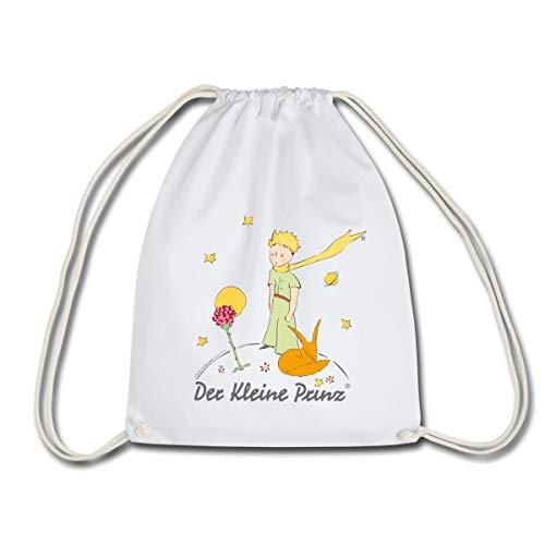 Spreadshirt Der Kleine Prinz Mit Rose Und Fuchs Turnbeutel, Weiß