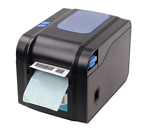 YHML Imprimante D'étiquettes, Étiquettes De Codes À Barres De Réception Imprimante Thermique Imprimante D'étiquettes Code-Barres QR Code Sticker Machine 20MM-80MM avec Automatique Décapage