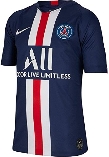 Nike Youth PSG Paris Saint-Germain 2019-20 Home Soccer Jersey (Large) Navy