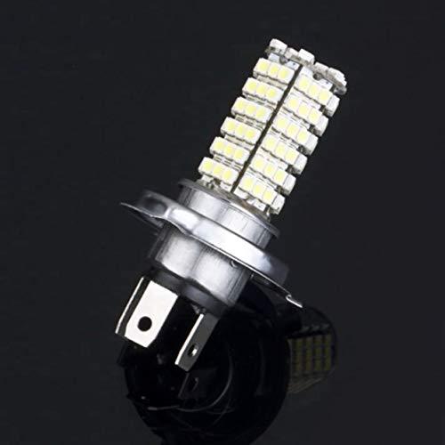 YXDS Luz de Coche H4 68 LED 3528 1210 Luz Blanca Pura para Coche Fuente de luz automática Faros antiniebla Lámpara de conducción Bombilla DC12V Aluminio Metal