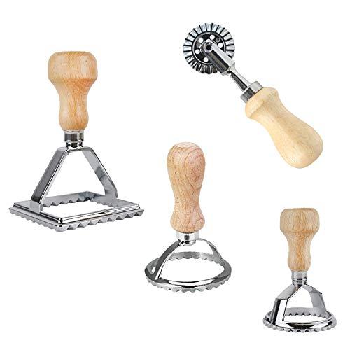 Juego de 4 cortadores de raviolis, cortador de galletas, cua