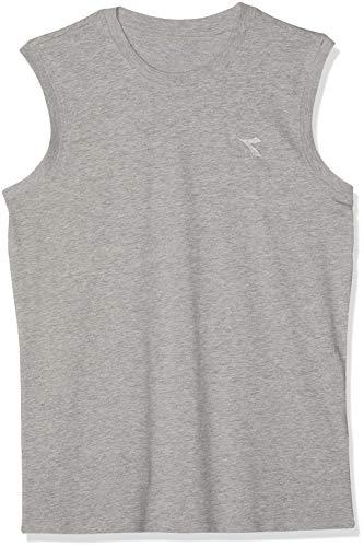 Diadora Sport 102171674 SL Camiseta, Hombre, Grigio Melange Medio Chia, Large