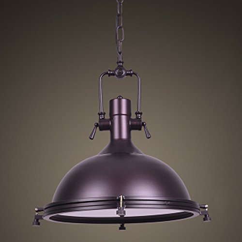"""Industrial Nautical Style Single Pendant-LITFAD 18"""" Wide Pendant Lamp with Frosted Diffuser Mounted Fixture in Purple"""