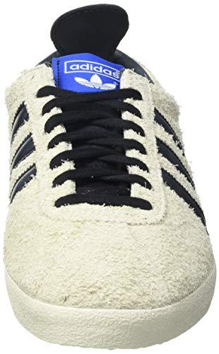 adidas Gazelle Vintage, Sneaker Hombre, Cream White/Core Black/Blue, 44 2/3 EU