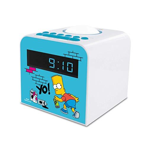 Metronic Kinder UKW/FM Uhrenradio Wecker mit Nachtlicht - Simpsons