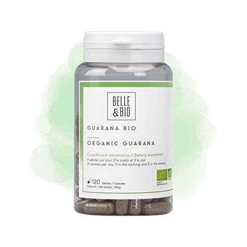 Belle&Bio - Guarana Bio - 120 gélules - 250 mg/Gélule - Brûleur - Capteur - Certifié Bio par Ecocert - Fabriqué en France
