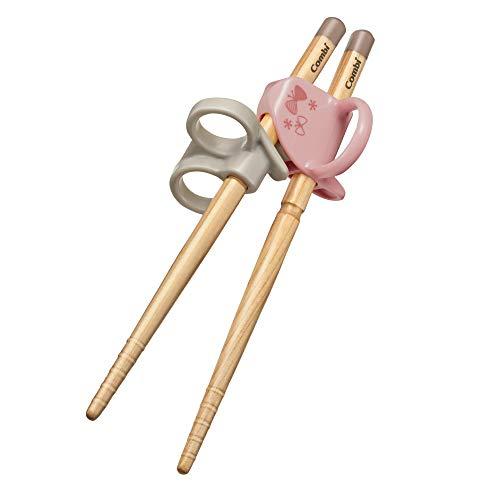 コンビ はじめておはし 木箸 右手用 ちょう